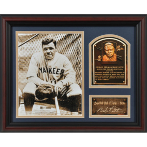 Babe Ruth New York Yankees Fanatics Authentic Framed Hall of Fame Milestones & Memories Photograph with Facsimile Signature