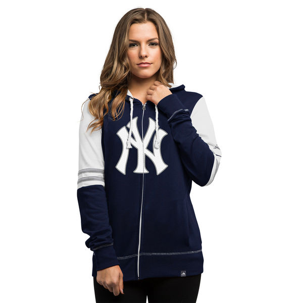 reputable site 94184 a49a9 New York Yankees Majestic Women's Big Time Attitude Full-Zip Hoodie