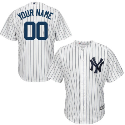New York Yankees Majestic Youth Custom Cool Base Jersey
