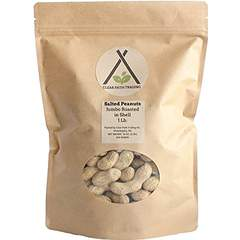 Clear Path Trading, Jumbo Dry Roasted Salted Peanuts in Shell, 1 lb