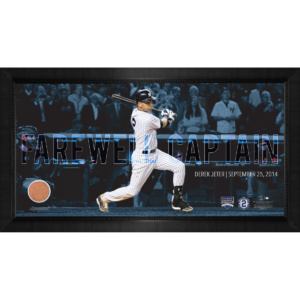 FRAMED 10X20 DEREK JETER MOMENTS:FINAL YANKEE MOMENT