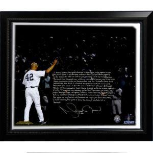 FRAMED MARIANO RIVERA 'LAST GAME IN PINSTRIPES' STORY