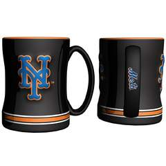 MLB New York Mets Sculpted Relief Mug, 14-ounce