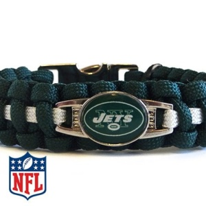 OFFICIALLY LICENSED NFL NEW YORK JETS PARACORD BRACELET
