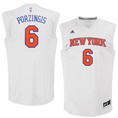 Kristaps Porzingis New York Knicks adidas Chase Fashion Replica Jersey – White-