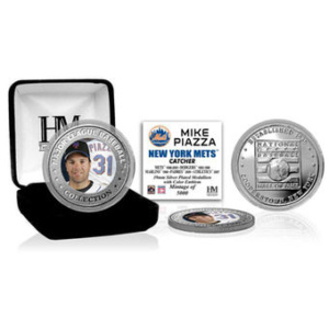 Piazza New York Mets Highland Mint 2016 MLB Hall of Fame Induction Commemorative Color Coin