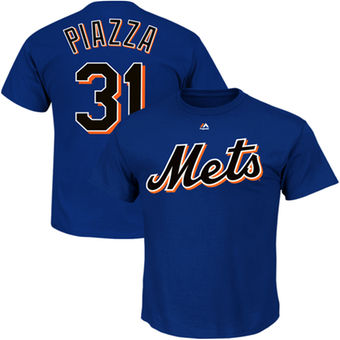 Mike Piazza New York Mets Royal Big & Tall Cooperstown Name & Number T-Shirt