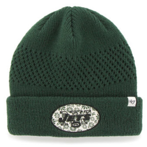 WOMEN'S NEW YORK JETS '47 BRAND GREEN POPPIE CUFFED KNIT HAT