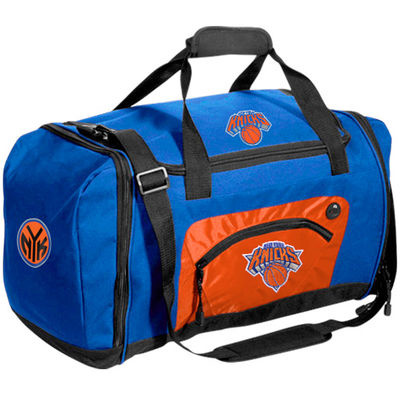 New York Knicks Roadblock Duffle Bag – Royal Blue/Orange-