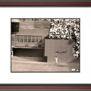 "Willie Mays Signed, Framed 16″ x 20″ ""The Catch"" Photo–"