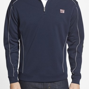 New York Giants – Edge' DryTec Moisture Wicking Half Zip Pullover (Big & Tall)-