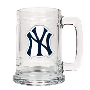 Personalized New York Yankees beer mug perfect for engraving