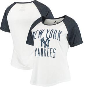 New York Yankees Women's Timeless Serenity Baseball T-Shirt – White