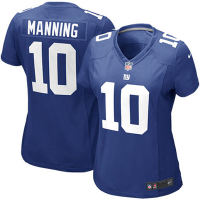 Eli Manning New York Giants Women's Royal Blue Game Jersey-