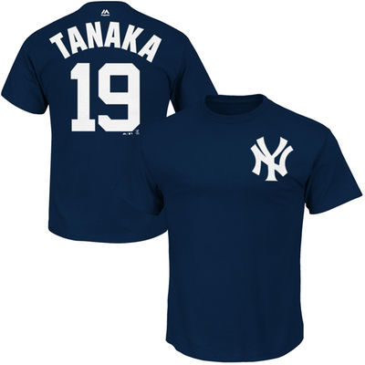 Masahiro Tanaka New York Yankees Majestic Official Name and Number T-Shirt – Navy