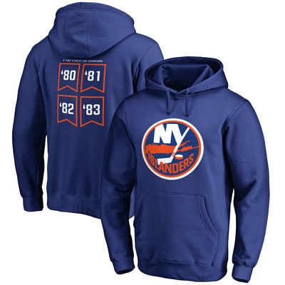 New York Islanders Raise the Banner Pullover Hoodie – Royal