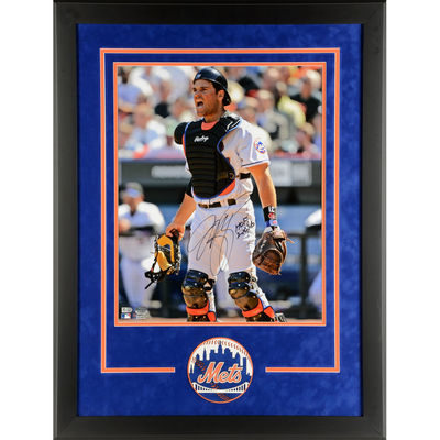 Mike Piazza New York Mets Fanatics Authentic Deluxe Framed Autographed 16″ x 20″ Catchers Gear Photograph with HOF 2016 Inscription