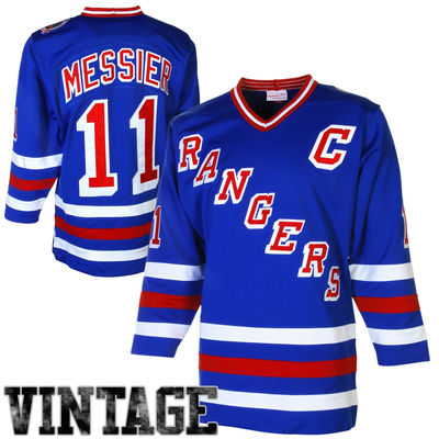 hot sale online bb515 3a097 Mark Messier New York Rangers Throwback Authentic Vintage Jersey - -