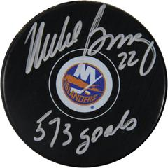 mike bossy signed puck