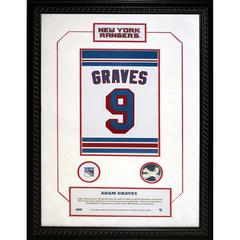 Adam Graves #9 Retired Number 14×20 Framed Collage w/ Nameplate