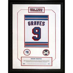 Adam Graves #9 Retired Number 14×20 Framed Collage w/ Nameplate