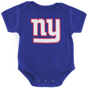 New York Giants Newborn Royal Team Logo Bodysuit