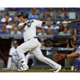 Autographed  Gary Sanchez  Authentic 8″ x 10″ Hitting Photograph
