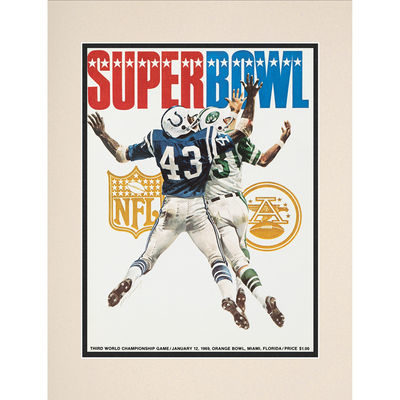Fanatics Authentic 1969 Jets vs. Colts Framed 10.5″ x 14″ Matted Super Bowl III Program