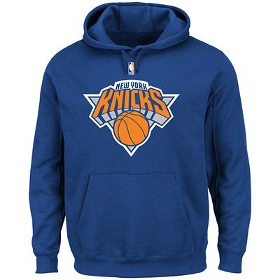 Youth New York Knicks  Blue Primary Logo Pullover Hoodie