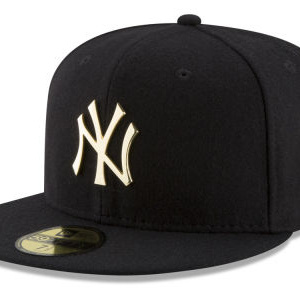 New York Yankees New Era MLB Premium O'League Gold 59FIFTY Cap