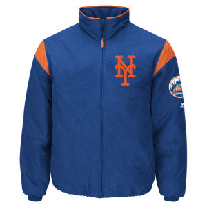 New York Mets Majestic MLB Men's On-Field Thermal Jacket