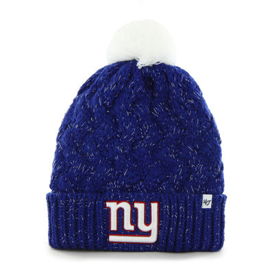 99c2b6dc4 New York Giants '47 Brand Womens Fiona Cuff With Pom Knit Beanie – Royal  Blue