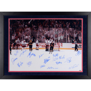 "Autographed New York Rangers Fanatics Authentic Framed 24"" x 36"" Victory on Ice Photograph 17 Signatures – Steiner Sports"