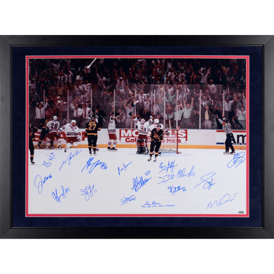 """Autographed New York Rangers Fanatics Authentic Framed 24"""" x 36"""" Victory on Ice Photograph 17 Signatures – Steiner Sports"""