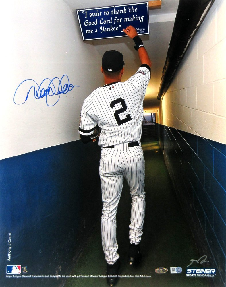 16e00e5ab Derek Jeter Autographed/Signed New York Yankees 16×20 Iconic Anthony J.  Causi Collection Stadium Tunnel Photo – Steiner & MLB Authenticated