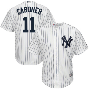 Men's New York Yankees Brett Gardner White Home Cool Base Player Jersey