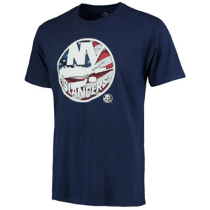 Men's New York Islanders Navy Banner Wave T-Shirt ny sports shop