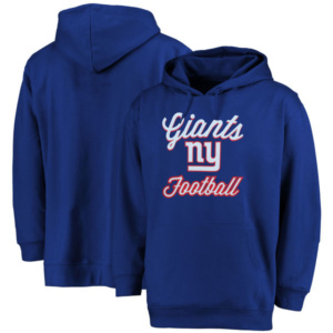 New York Giants Majestic Women's Plus Size Rookie Pullover Hoodie –