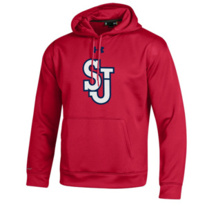 St. Johns Red Storm Under Armour Big Logo Storm Performance Pullover Hoodie –