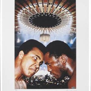 Muhammad Ali/Joe Frazier Unframed & Hand-Signed George Kalinsky