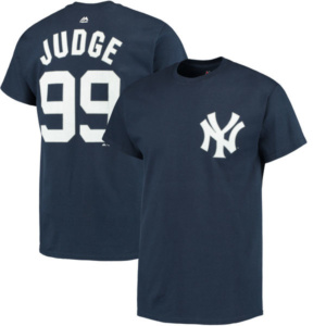 Men's New York Yankees Aaron Judge  Navy Official Name & Number T-Shirt