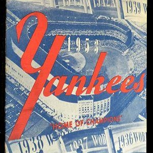 New York Yankees Scorecard - 23 April 1953 vs Boston Unlisted Published by Blanchard Press, 1953