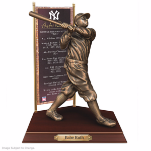 BABE RUTH New York Yankees Cold-Cast Bronze Sculpture–