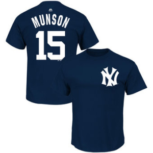 Thurman Munson New York Yankees Majestic Big & Tall Cooperstown Name & Number T-Shirt - Navy