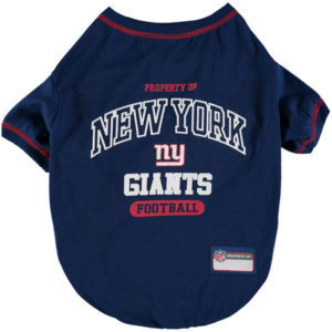 New York Giants Pet T-Shirt In Stock – Ships Within One Business Day.
