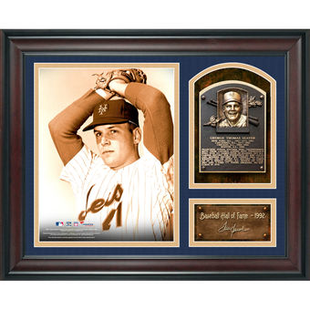 Tom Seaver New York Mets Fanatics Authentic Framed 15″ x 17″ Baseball Hall of Fame Collage with Facsimile Signature–