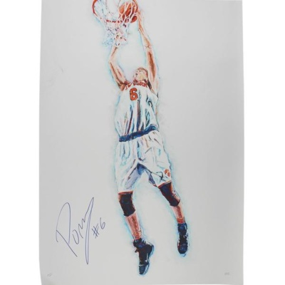 Kristaps Porzingis SIGNED and Framed Sports Art Limited Edition /10