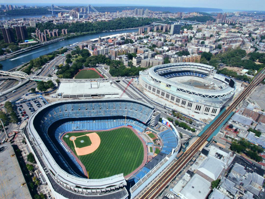Yankee stadiums old and new print ny sports shop - Yankee stadium images ...