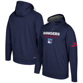 New York Rangers adidas Authentic Pro Player Pullover Hoodie