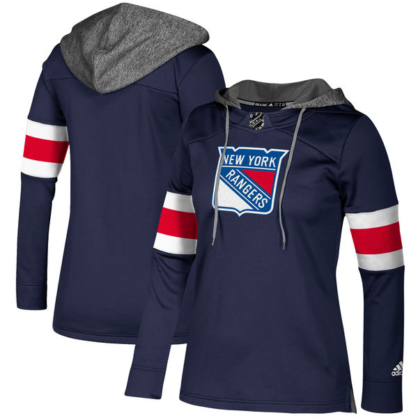 the latest 94af0 93ae0 New York Rangers adidas Women's Authentic Jersey Crewdie Hooded Sweatshirt